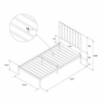 Modern Chic Metal Bed Frame Size with GOLD