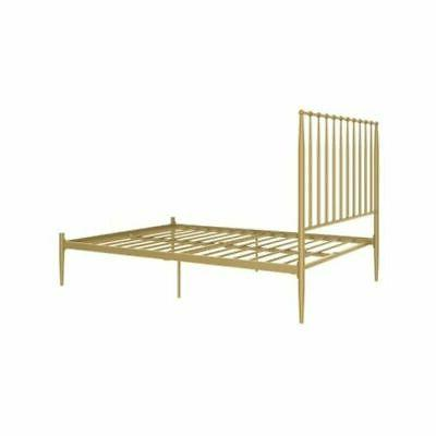 Modern Metal Bed Queen Size with GOLD