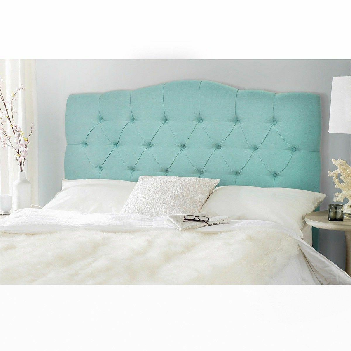 NEW Headboard bed Button Bedroom blue
