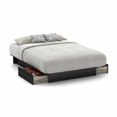 one queen platform bed