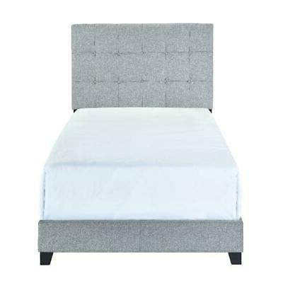Crown Mark Florence Gray Panel Bed, Multiple