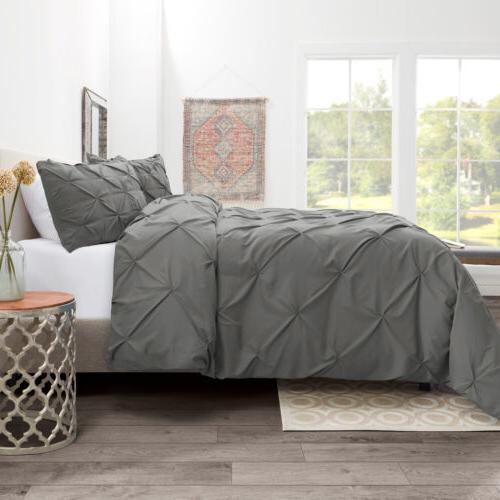 Pinch Pleated Set Luxurious Premium Comforter