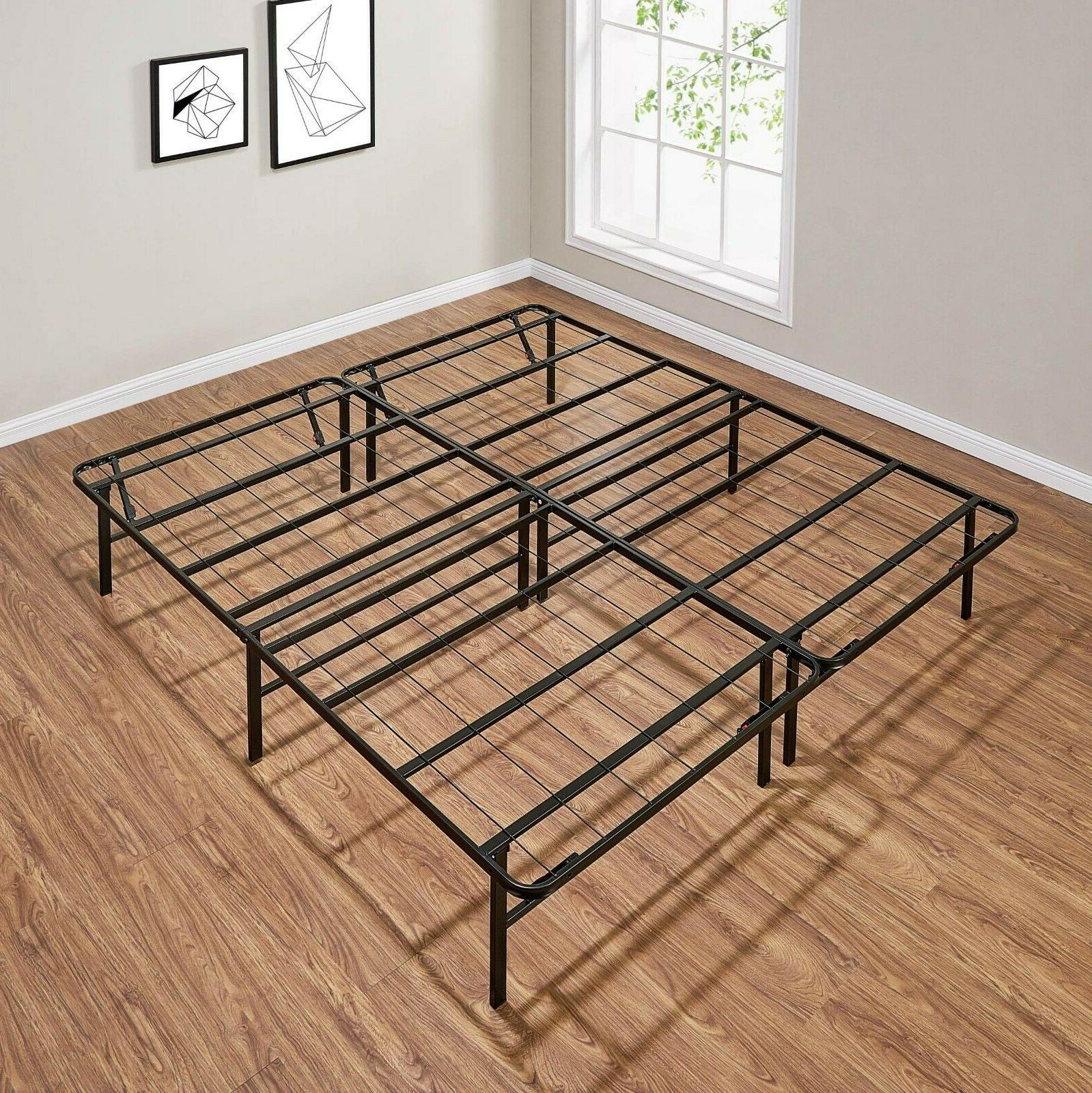 Platform Bed Heavy Duty Steel Base King Twin