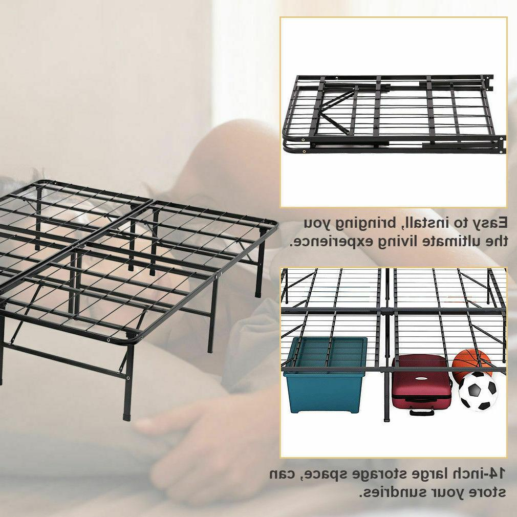Platform Queen Box Spring Metal Heavy Duty