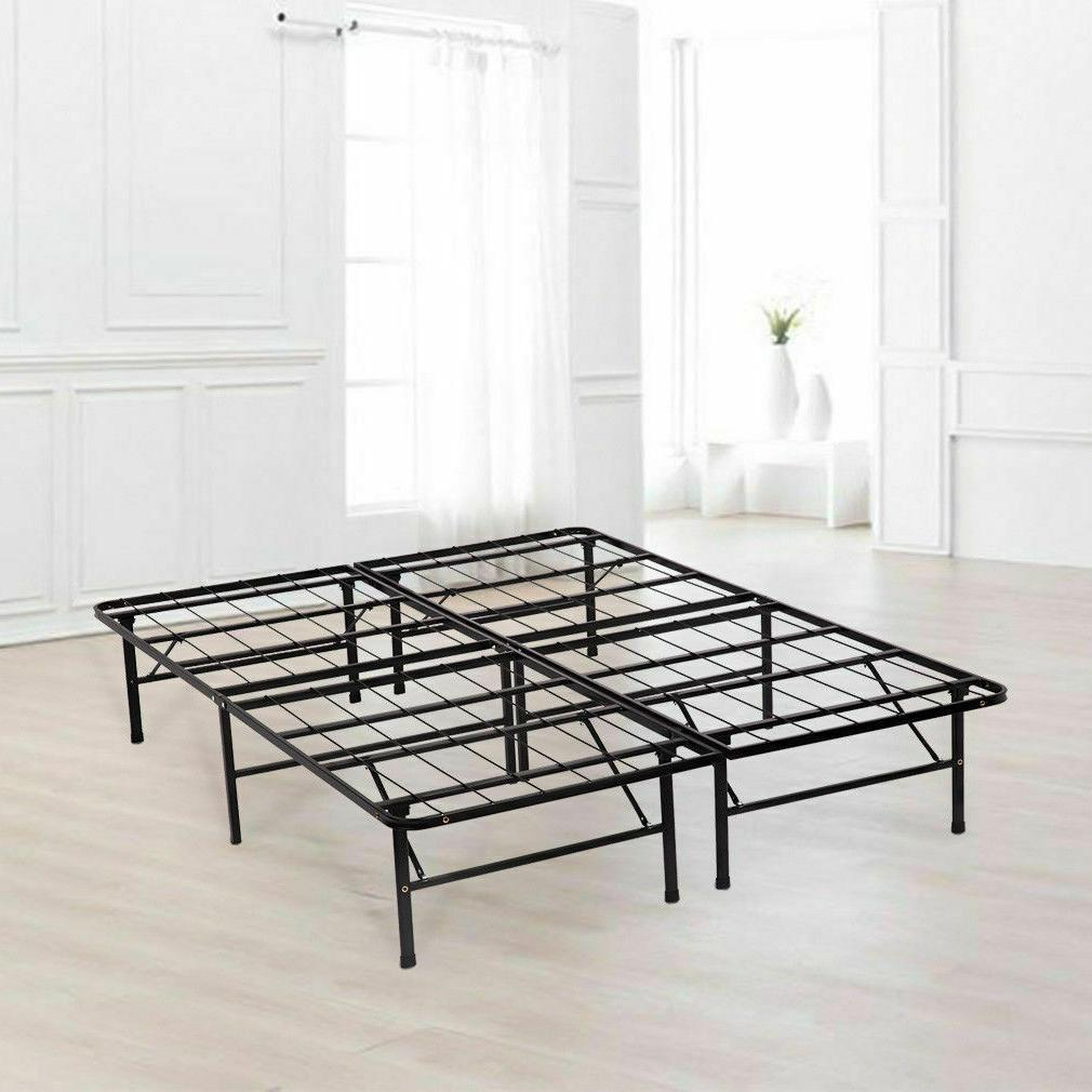 platform bed frame queen box spring mattress