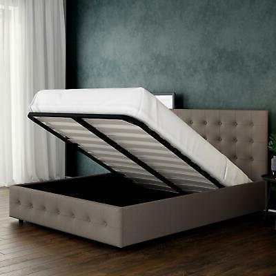 platform bed frame queen headboard
