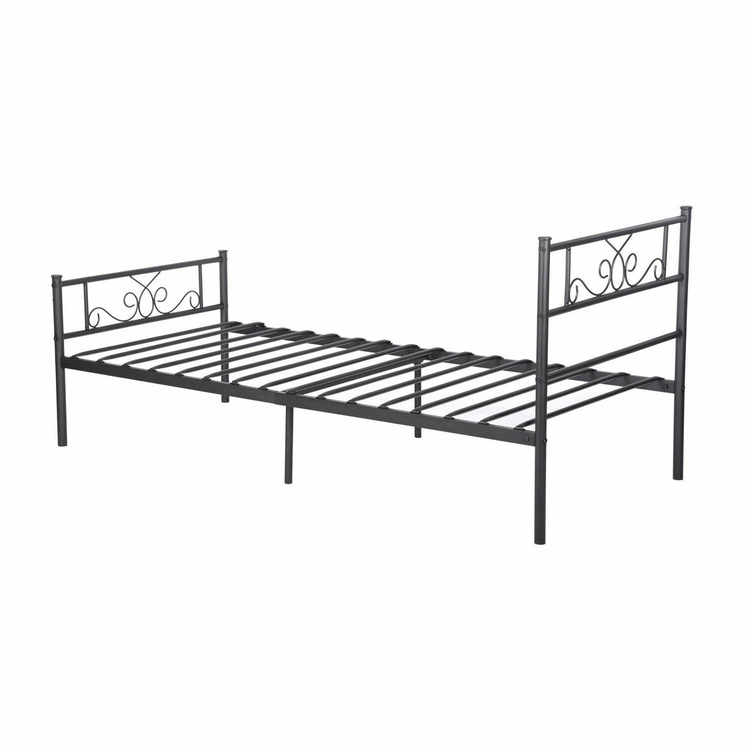 Platform Bed Queen Twin Bed Foundation Headboard