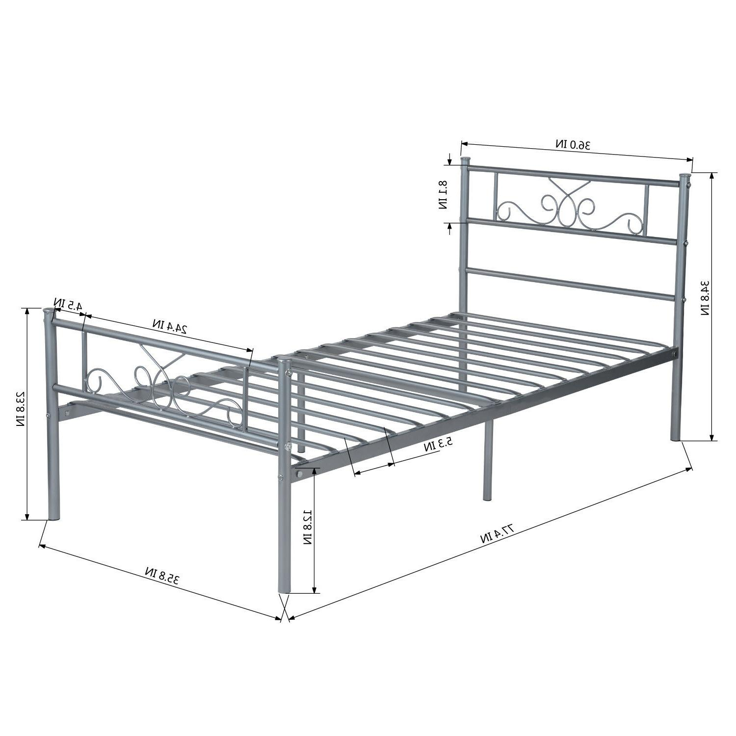 Platform Twin Metal Bed Foundation
