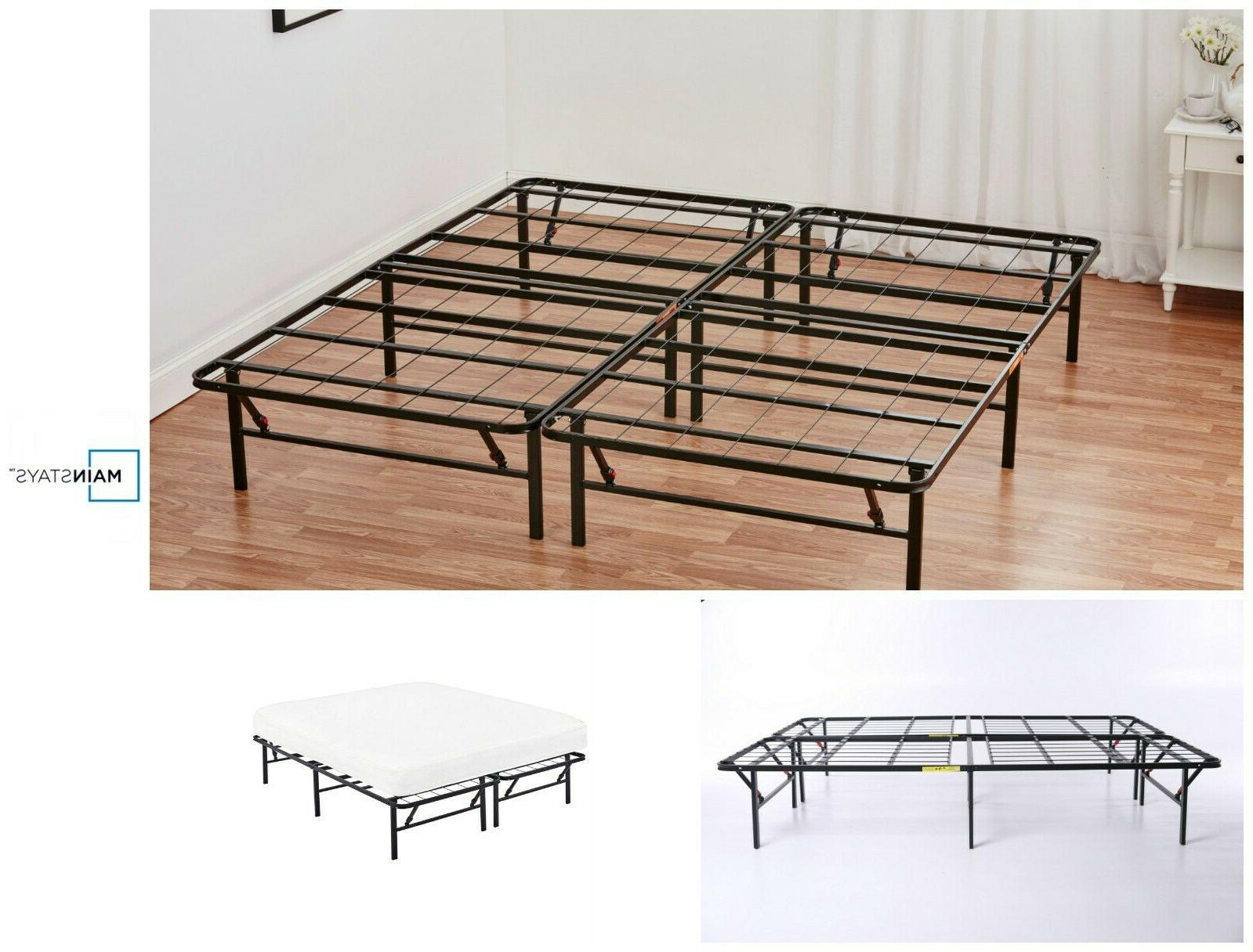 Platform Queen Size Bed Frame 14 Inch Storable Foldable Meta