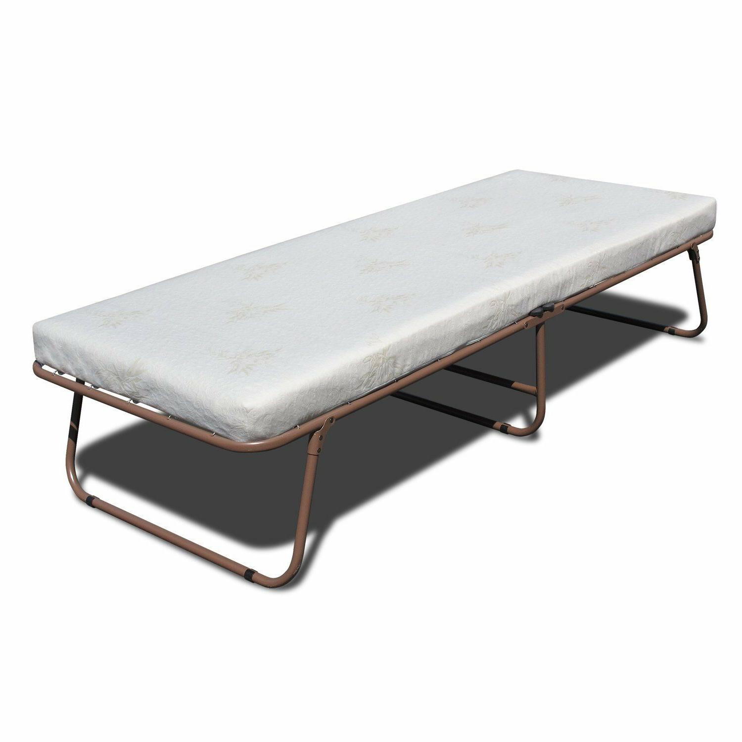 Portable Folding Guest Metal Frame Mattress Set Day bed Guest Bed