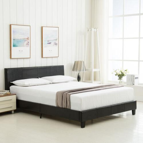 Queen Leather Frame Upholstered Headboard Memory