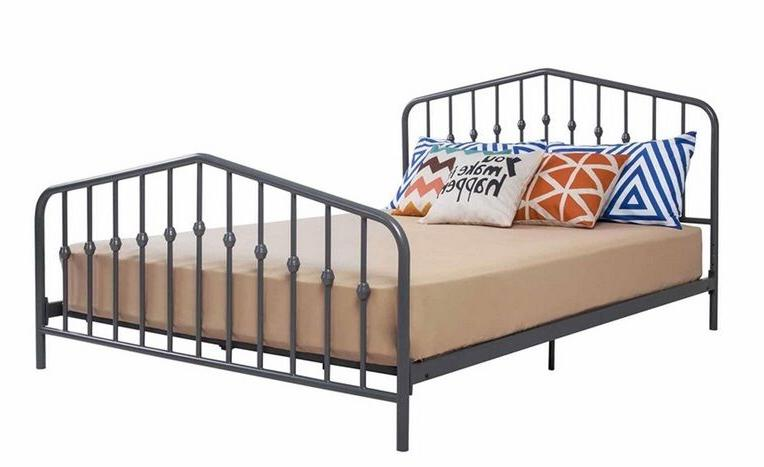 Queen Size Frame Footboard Gray New