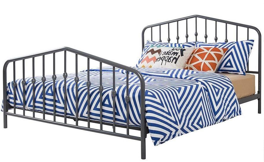 Queen Size Metal Bed Frame w/ Footboard New