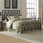 Pemberly Row Queen Metal Bed in Coffee