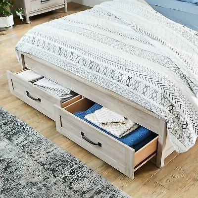 Queen Storage Drawers Modern Rustic and
