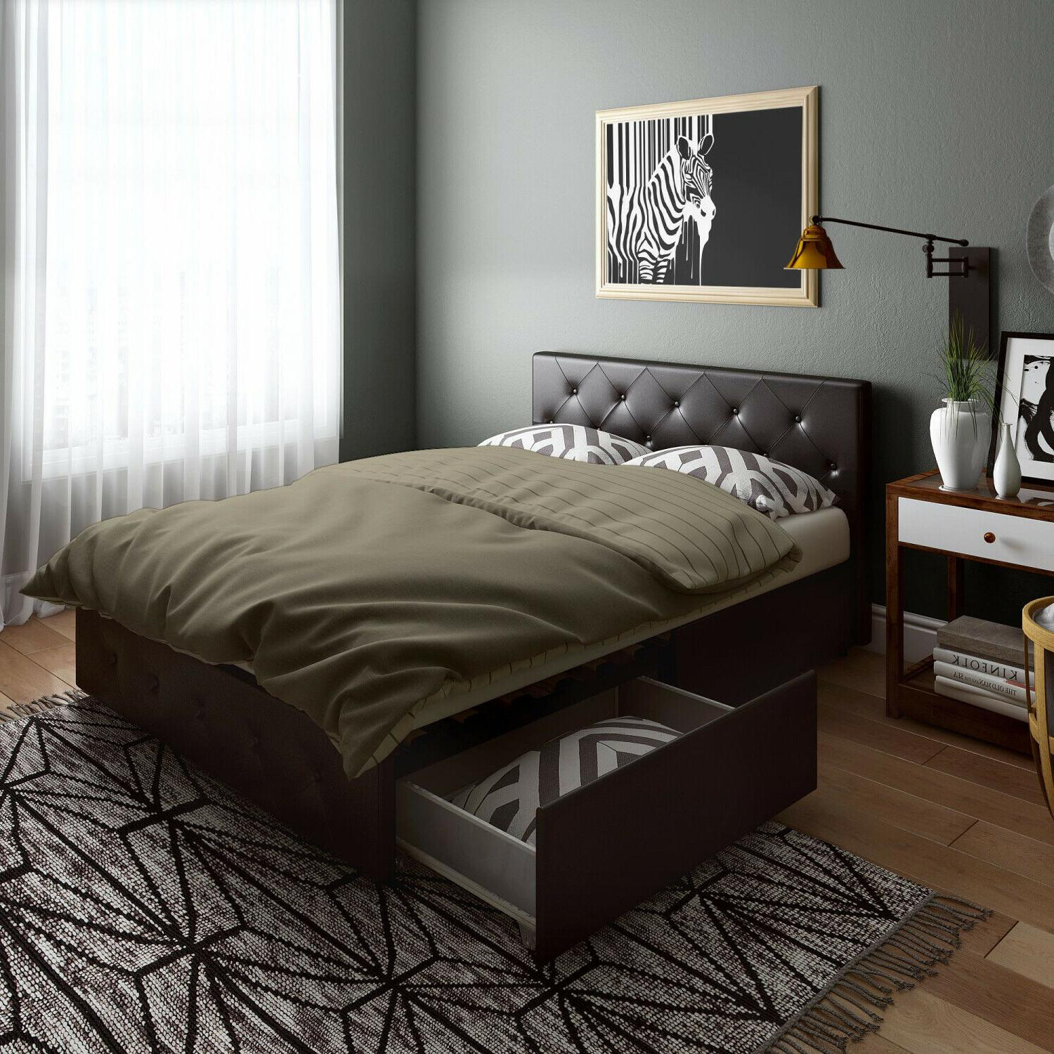 queen size bed frame with storage 4