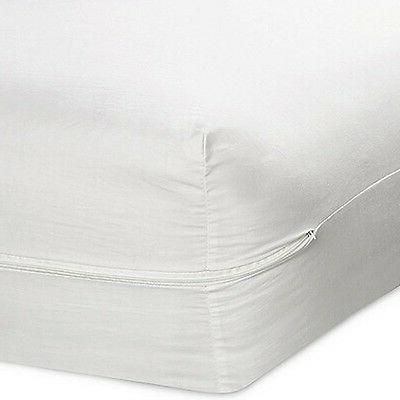 "QUEEN SIZE FABRIC ZIPPERED MATTRESS COVER 16"", BED BUG PROTE"