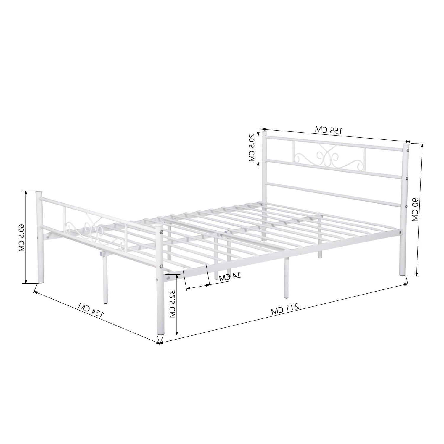 Queen Bed Frame Mattress Foundation with