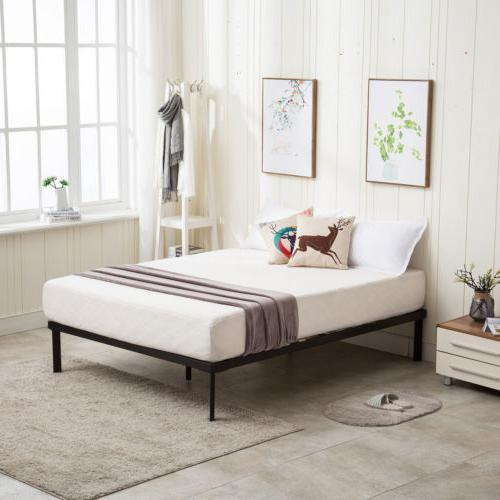 Queen Size Frame Platform Upholstered Headboard Bedroom