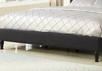 Queen Size Black Button Tufted Headboard & New