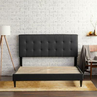 Queen Size Upholstered Bed Frame With Tufted