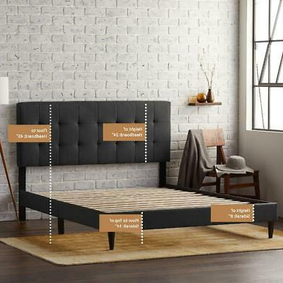 Queen Size Bed Tufted Headboard