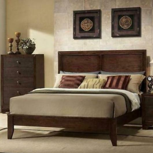 queen size wood bed frame panel headboard