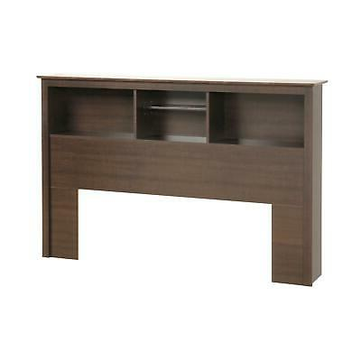Queen Size Wood Shelf Bed Headboard Only Storage