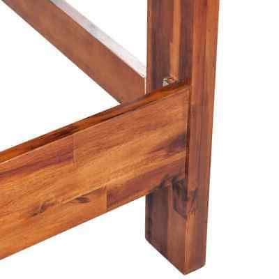 Queen Size Bed Frame Solid Acacia Wood Brown Furniture U A