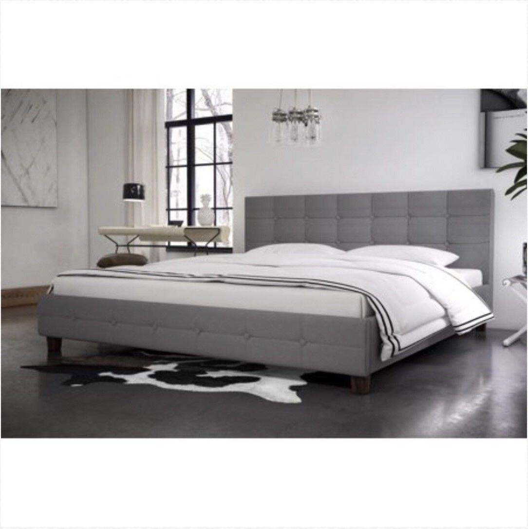 rose linen tufted upholstered platform bed multiple