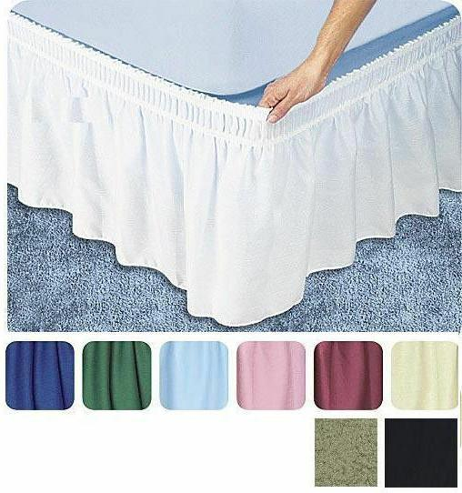 Ruffle Wrap Skirt Bed Drop Easy Fit Madison's SHIPPING!