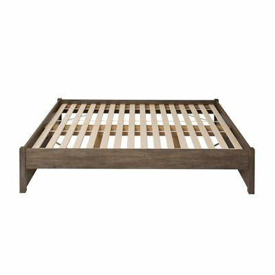 Prepac Select 4-Post Platform Bed Gray