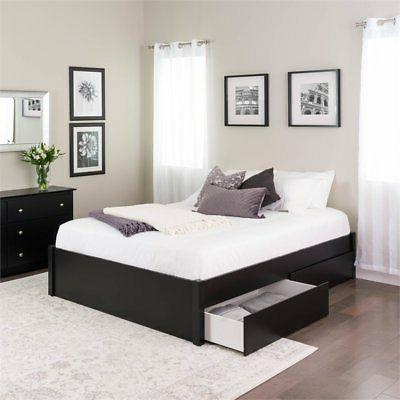 Prepac Select Platform Bed with Drawers in