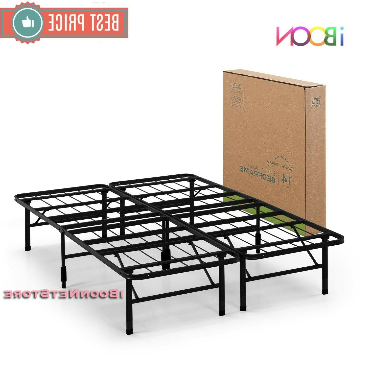 Steel BED FRAME Queen High Profile Black Duty