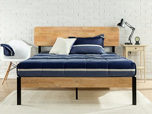 tuscan metal wood platform bed