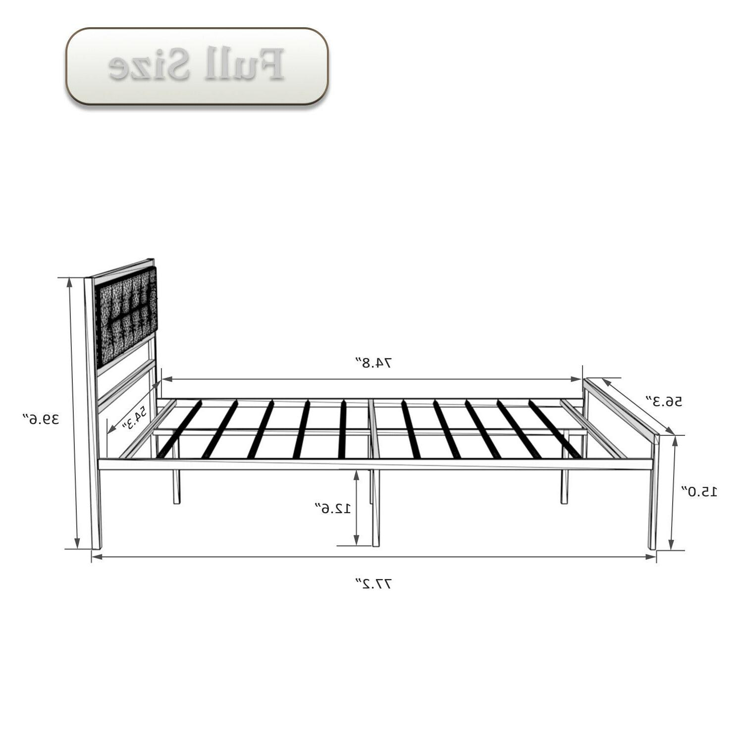 Twin/Full/Queen platform Bed Frame With Modern Upholstery