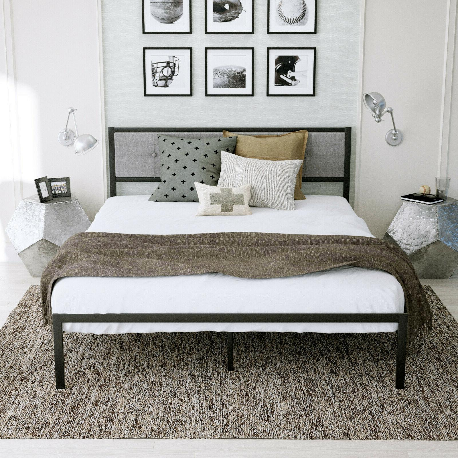 Twin/Full/Queen With Drak Gray Upholstery headboard