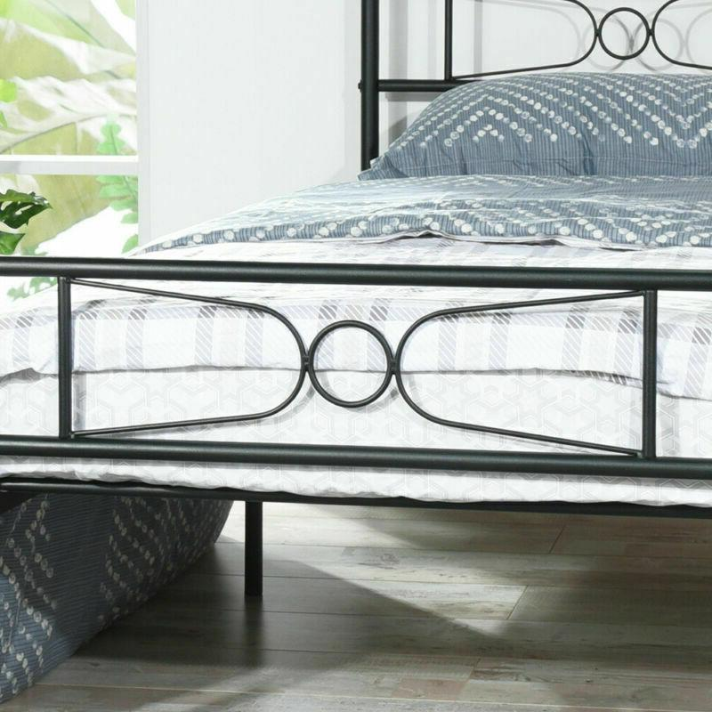 Twin Size Metal Frame with Headboard and