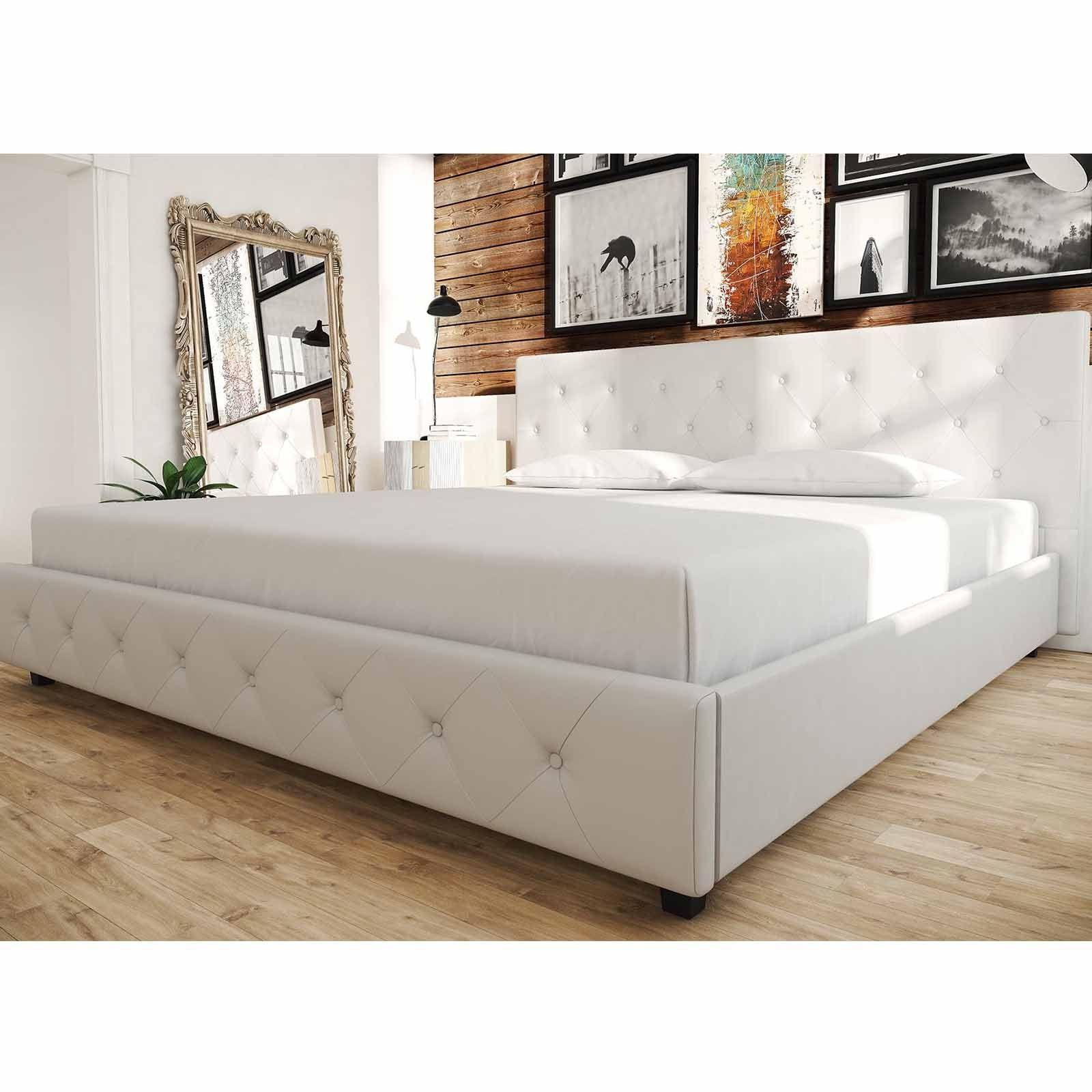 Upholstered Bed Frame Twin Queen King Tufted Headboard