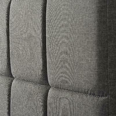 Upholstered Tall Tufted Twin/Full/Queen/King - Gray