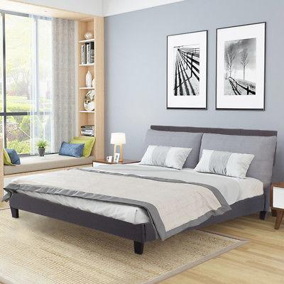 upholstered platform bed queen panel bed frame