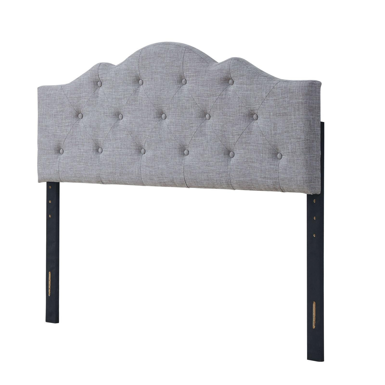 Upholstered Tufted Rounded Headboard Twin Full Queen King Si