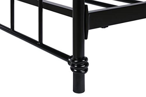 DHP Metal Bed Frame in Black Vintage and No Box Sturdy Metal Frame Slats, 500 lbs, Size