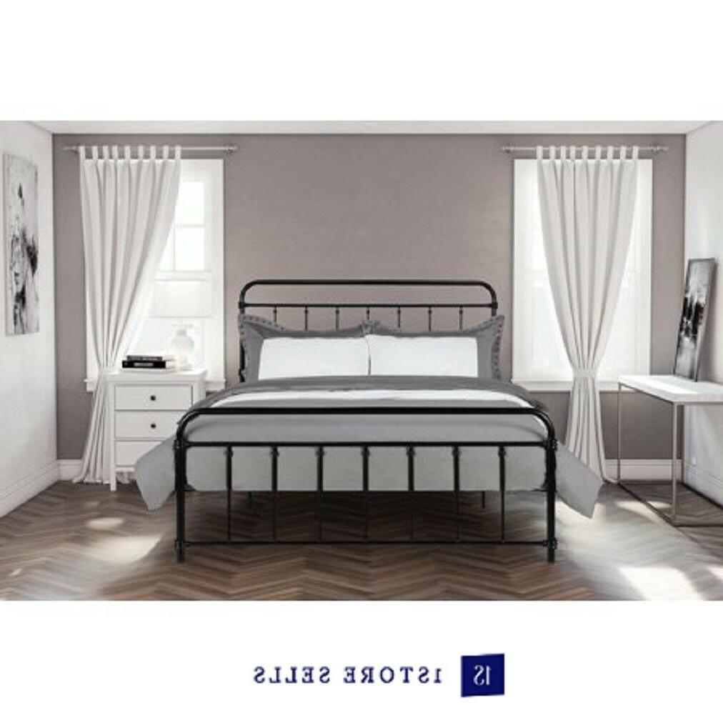wallace metal bed frame black
