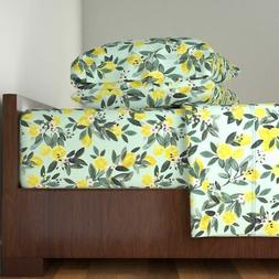 Lemons Lemon Tree Summer Home Kitchen 100% Cotton Sateen She