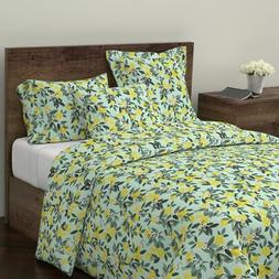 Lemons Lemon Tree Summer Home Kitchen Decor Sateen Duvet Cov