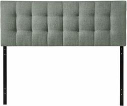 Modway Lily Tufted Linen Fabric Upholstered Queen Headboard