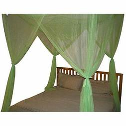 "Lime Green 4 Corner/Post Bed Canopy Queen King Home "" Kitche"