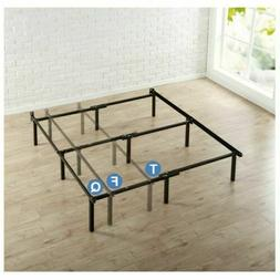Metal Bed Frame Adjustable Rails Twin Full Queen Size Box Sp