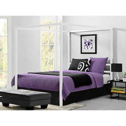 Metal Canopy Bed Frame Queen Size With HeadBoard Platform Mo